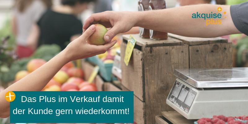 Verkauf von Äpfeln
